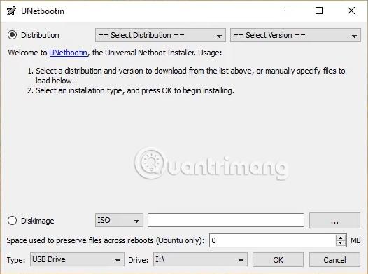 Phần mềm UNetbootin