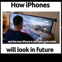 Hình dung hài hước về iPhonephiên bản 15SSSS Double x-tra Large Max S trong tương lai