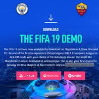 Đã có FIFA 19 bản Demo và hoàn toàn miễn phí, mời tải về và trải nghiệm