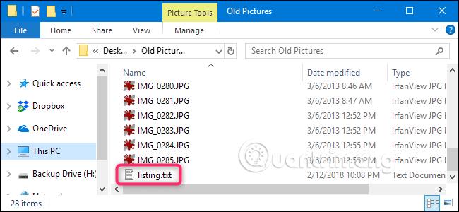 Windows tạo file bên trong thư mục