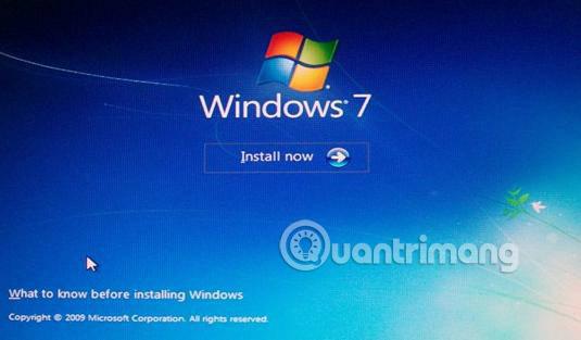 Giao diện cài đặt Windows