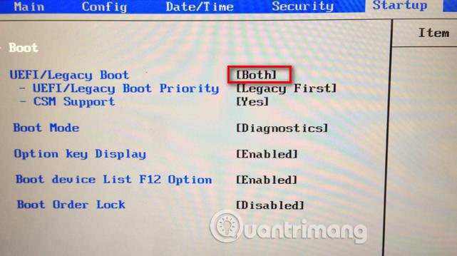 Nhập BIOS và thiết lập chế độ boot để khởi động CSM
