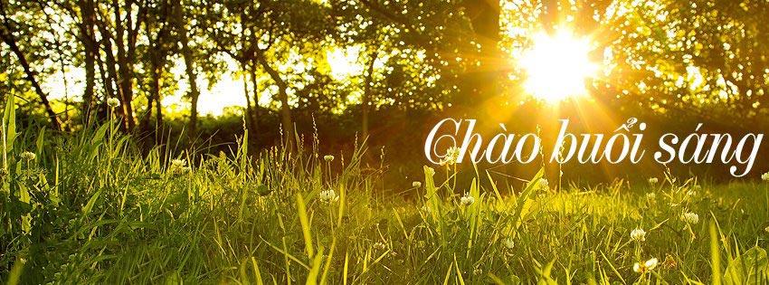 Những ảnh bìa Facebook chào buổi sáng đẹp, ý nghĩa 9