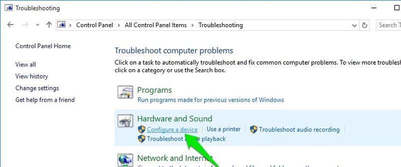 Click vào Configure a device