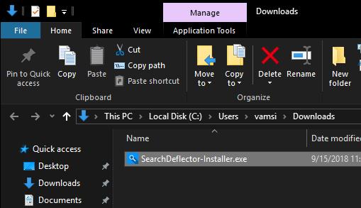Click đúp vào file thực thi