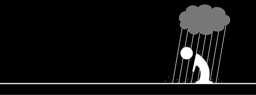 Top ảnh bìa Facebook màu đen cho những ai đang buồn 9