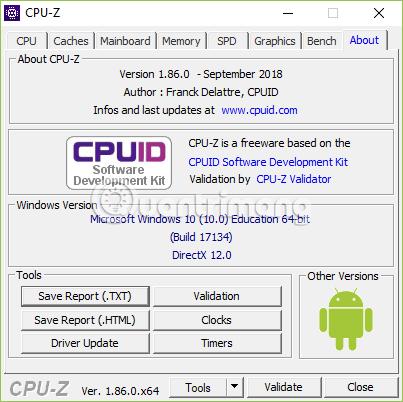 Hướng dẫn sử dụng CPU-Z, đọc thông số CPU-Z cung cấp