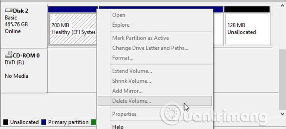 Cách xóa ổ đĩa không thể loại bỏ bằng Disk Management - Ảnh minh hoạ 2