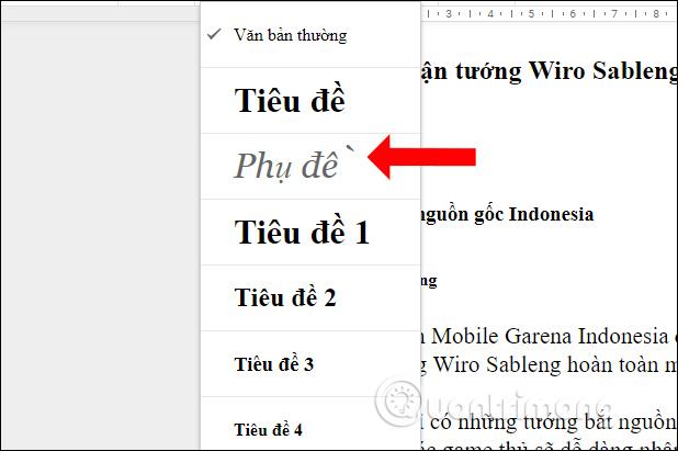 Cách bật mục lục outline trên Google Docs