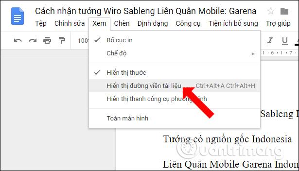 Cách bật mục lục outline trên Google Docs - Ảnh minh hoạ 2
