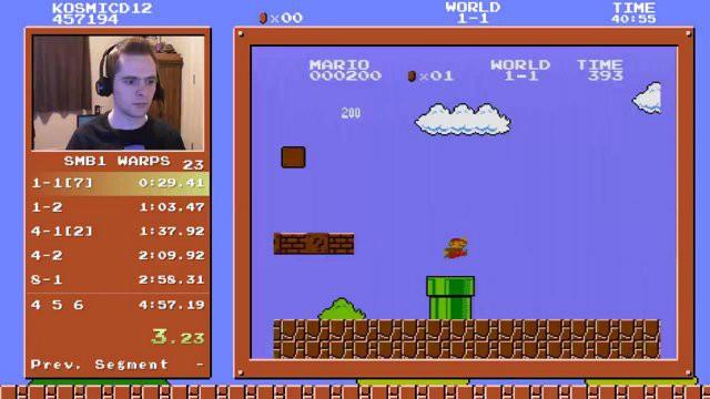"""Kỷ lục thế giới mới về """"phá đảo"""" Super Mario Bros."""