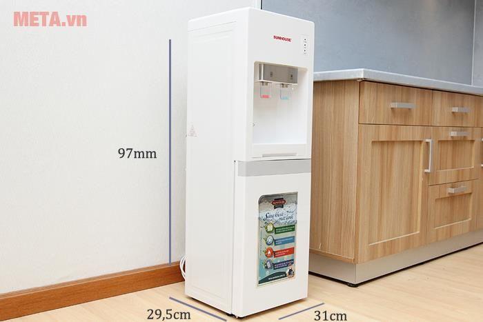 Cây nước nóng lạnh có kích thước gọn gàng