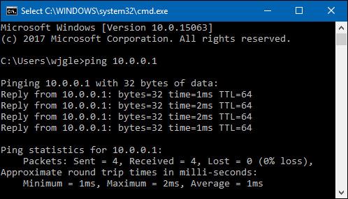 """kiểm tra độ trễ bằng lệnh """"Ping"""" trong Command Prompt"""
