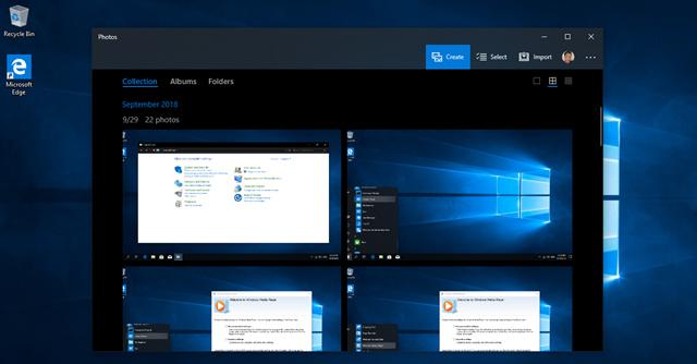 Ứng dụng Photos trong Windows 10 October 2018 có tốc độ phản hồi khá nhanh và tiện lợi