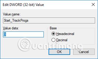 Cách tắt lịch sử mở ứng dụng trong Windows 10