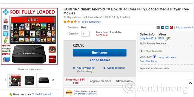 Kodi box có hợp pháp không?