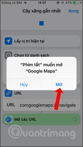 Truy cập Google Maps