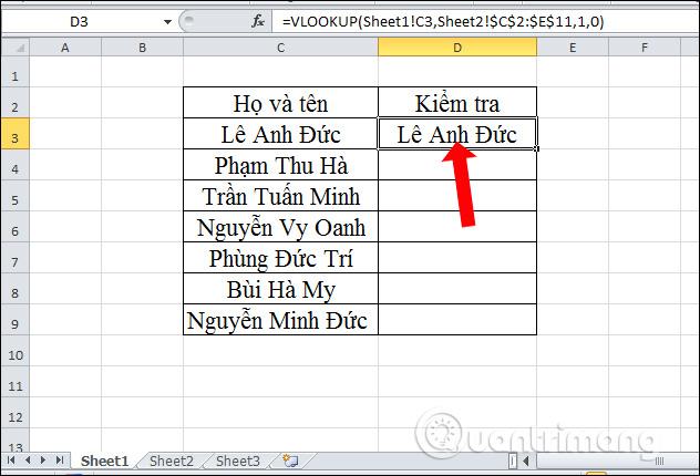 Cách lọc dữ liệu trùng nhau trên 2 sheet Excel - Ảnh minh hoạ 9