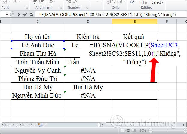 Cách lọc dữ liệu trùng nhau trên 2 sheet Excel - Ảnh minh hoạ 12