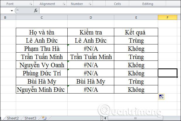 Cách lọc dữ liệu trùng nhau trên 2 sheet Excel - Ảnh minh hoạ 13