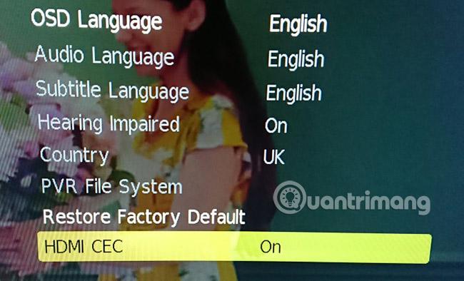 Điều khiển qua HDMI-CEC