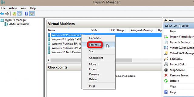 Cách thiết lập và sử dụng Hyper-V trong Windows 10 để cài đặt các hệ điều hành ảo 32