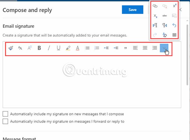 Bước 4: Định dạng chữ ký email của bạn
