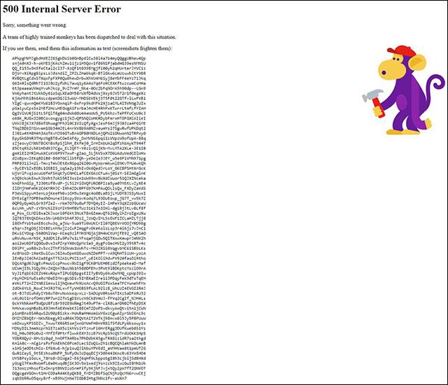 Lỗi 500 máy chủ nội bộ