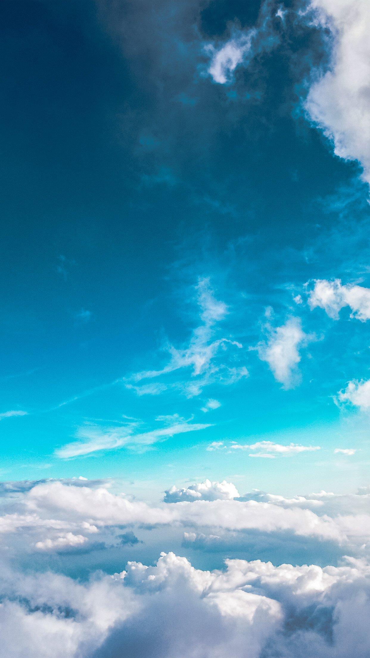 Hình nền bầu trời xanh tuyệt đẹp cho điện thoại 3