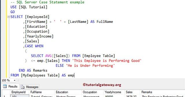 Hàm CASE trong SQL Server (phần 1)