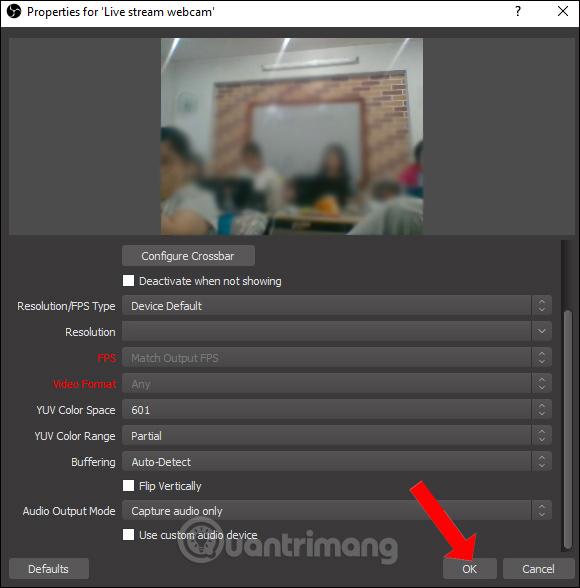 Tùy chỉnh webcam