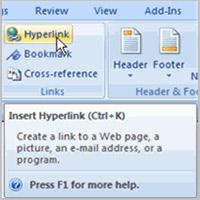 Bài 20: Làm việc với các Hyperlink
