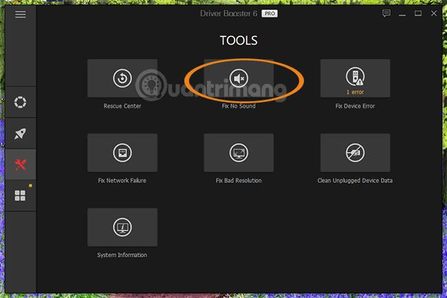 Công cụ sửa lỗi âm thanh của Driver Booster