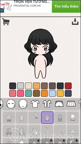 Cách tạo avatar chibi Facebook bằng Unnie doll - Ảnh minh hoạ 4