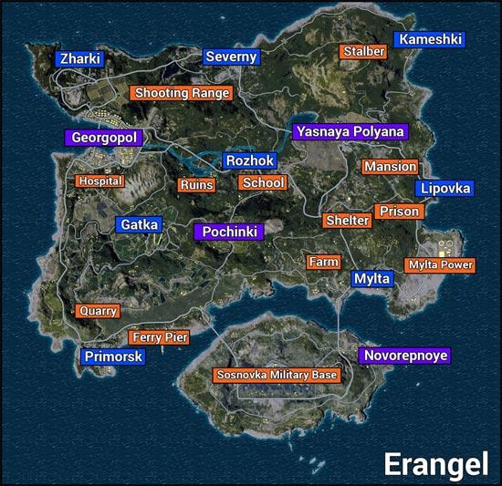 Bản đồ Erangel