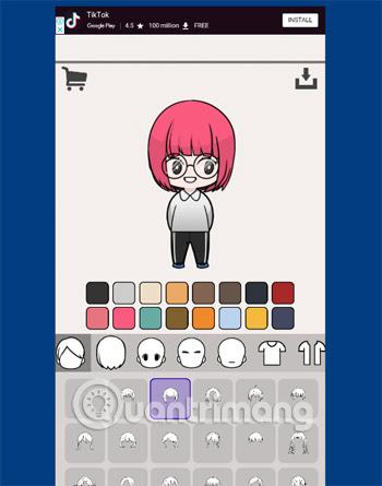 Tạo nhân vật Unnie Doll