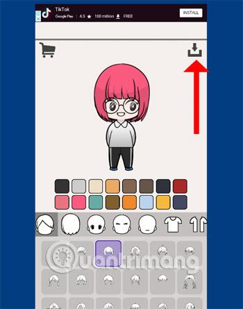 Lưu nhân vật Unnie Doll