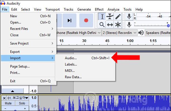 Mở file âm thanh