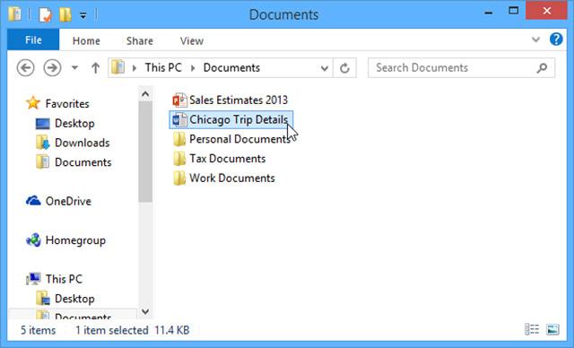 Mở một tài liệu Microsoft Word