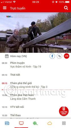 Danh sách chương trình VTV Go