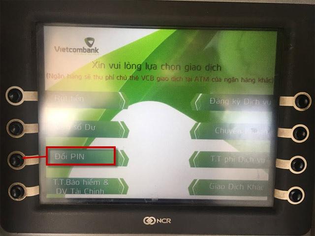 Cách đổi mật khẩu thẻ ATM Vietcombank