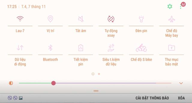 Khóa màn hình ngang điện thoại Samsung