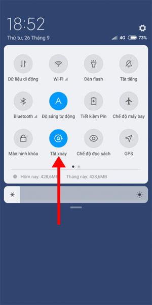 Tắt xoay màn hình Android