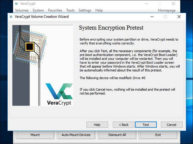 VeraCrypt sẽ xác minh xem mọi thứ đang hoạt động chính xác hay chưa