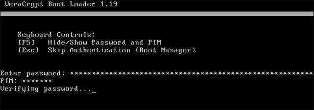 Nnhấn Enter tại hộp thoại nhắc PIM để chấp nhận giá trị mặc định.