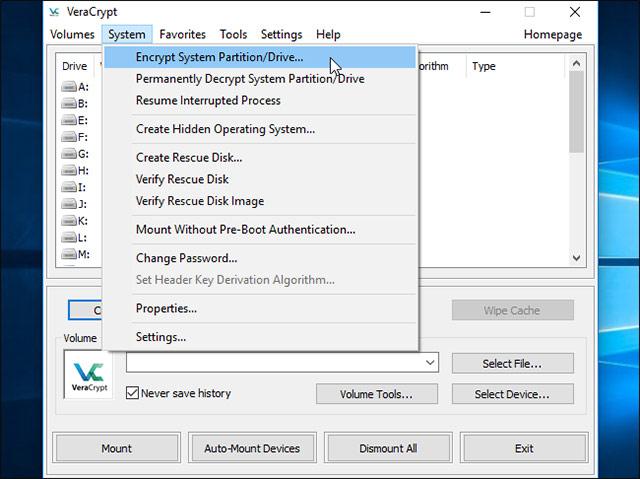 Cách mã hóa ổ đĩa hệ thống Windows với VeraCrypt - Ảnh minh hoạ 3