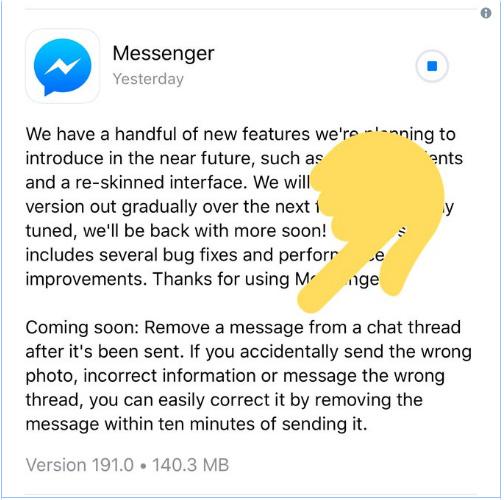 Tính năng thu hồi tin nhắn