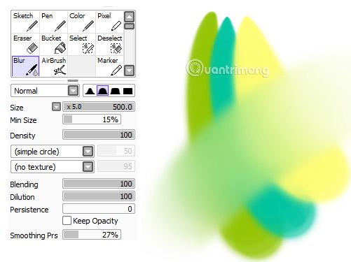 Công cụ Blur