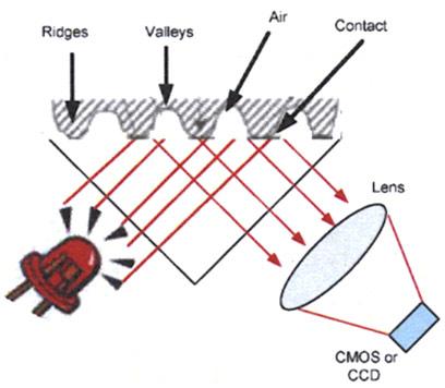 Nguyên lý quét vân tay quang học