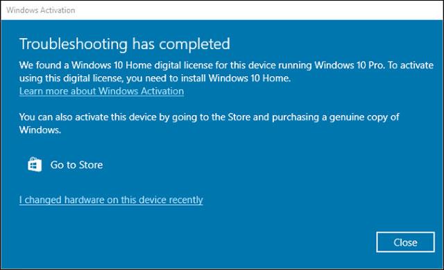 Cập nhật đưa người dùng về trạng thái bản Windows 10 Home
